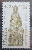 Poštovní známka Itálie 1986 Vánoce, bronzová socha Mi# 1995