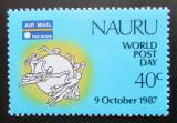 Poštovní známka Nauru 1987 Světový den pošty Mi# 337