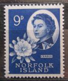 Poštovní známka Norfolk 1960 Pitahaya červená a Alžběta II. Mi# 31