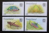 Poštovní známky Svazijsko 1988 Hmyz TOP SET Mi# 540-43 Kat 22€