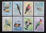 Poštovní známky Uganda 1987 Ptáci TOP SET Mi# 544-51 Kat 16€
