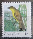 Poštovní známka Zambie 1987 Calamocichla gracilirostris přetisk Mi# 387