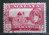 Poštovní známka Britské Malajsko, Pahang 1957 Mešita Mi# 68
