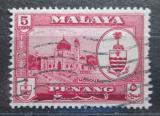 Poštovní známka Britské Malajsko, Penang 1960 Mešita Mi# 58