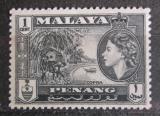 Poštovní známka Britské Malajsko, Penang 1957 Kopra Mi# 44