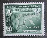 Poštovní známka Britské Malajsko 1958 Deklarace lidských práv Mi# 11