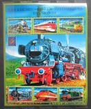 Poštovní známky Guinea 2001 Lokomotivy z celého světa Mi# 3121-26 Kat 23€