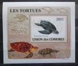 Poštovní známka Komory 2009 Želvy neperf. DELUXE Mi# 2177 B Block
