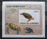 Poštovní známka Komory 2009 Želvy neperf. DELUXE Mi# 2181 B Block