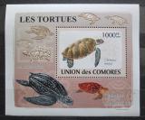 Poštovní známka Komory 2009 Želvy neperf. DELUXE Mi# 2182 B Block
