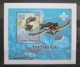Poštovní známka Guinea-Bissau 2005 Želvy DELUXE Mi# 3223 Block
