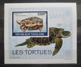 Poštovní známka Togo 2010 Želvy neperf. DELUXE Mi# 3425 B Block