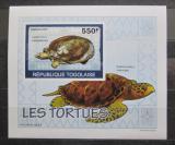 Poštovní známka Togo 2010 Želvy neperf. DELUXE Mi# 3427 B Block