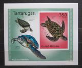 Poštovní známka Guinea-Bissau 2010 Želvy neperf. DELUXE Mi# 5025 B Block