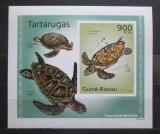 Poštovní známka Guinea-Bissau 2010 Želvy neperf. DELUXE Mi# 5030 B Block