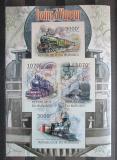Poštovní známky Burundi 2012 Parní lokomotivy neperf. Mi# 2436-39 B