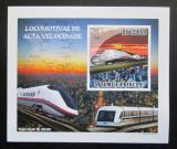 Poštovní známka Svatý Tomáš 2009 Rychlovlaky neperf. Mi# 4088 Block