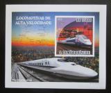 Poštovní známka Svatý Tomáš 2009 Rychlovlaky neperf. Mi# 4091 Block