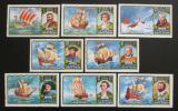 Poštovní známky Umm al-Kuvajn 1972 Plachetnice a mořeplavci Mi# 832-39