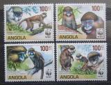Poštovní známky Angola 2011 Kočkodani, WWF Mi# 1858-61 Kat 8€