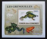Poštovní známka Komory 2009 Žáby DELUXE Mi# 2163 Block