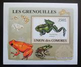 Poštovní známka Komory 2009 Žáby DELUXE Mi# 2164 Block