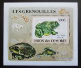 Poštovní známka Komory 2009 Žáby DELUXE Mi# 2167 Block