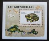 Poštovní známka Komory 2009 Žáby DELUXE Mi# 2168 Block