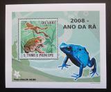 Poštovní známka Svatý Tomáš 2008 Žáby DELUXE Mi# 3350 Block