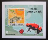 Poštovní známka Svatý Tomáš 2008 Žáby DELUXE Mi# 3351 Block
