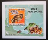 Poštovní známka Svatý Tomáš 2008 Žáby DELUXE Mi# 3352 Block