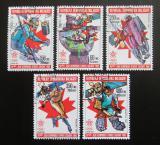 Poštovní známky Madagaskar 1987 ZOH Calgary Mi# 1065-69