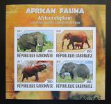 Poštovní známky Gabon 2017 Sloni neperf. Mi# N/N