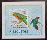 Poštovní známka Guinea-Bissau 2007 Papoušci DELUXE Mi# 3595 Block