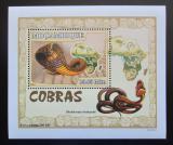 Poštovní známka Mosambik 2007 Kobry DELUXE Mi# 3000 Block