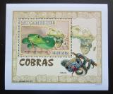 Poštovní známka Mosambik 2007 Kobry DELUXE Mi# 3002 Block