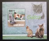 Poštovní známka Guinea-Bissau 2010 Kočky DELUXE Mi# 4582 Block