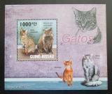 Poštovní známka Guinea-Bissau 2010 Kočky DELUXE Mi# 4583 Block