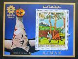 Poštovní známka Adžmán 1970 Umění, Hokusai, EXPO Mi# Block 196 Kat 6.50€