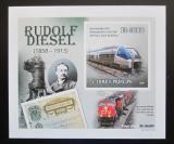 Poštovní známka Svatý Tomáš 2010 Lokomotivy DELUXE neperf. Mi# 4607 Block