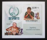 Poštovní známka Mosambik 2010 Slavní šachisti DELUXE neperf. Mi# 3698 B Block
