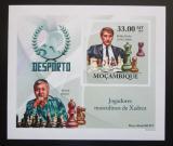 Poštovní známka Mosambik 2010 Slavní šachisti DELUXE neperf. Mi# 3700 B Block