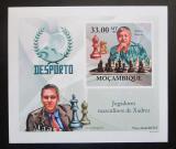 Poštovní známka Mosambik 2010 Slavní šachisti DELUXE neperf. Mi# 3701 B Block