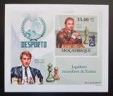 Poštovní známka Mosambik 2010 Slavní šachisti DELUXE neperf. Mi# 3702 B Block