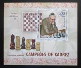 Poštovní známka Guinea-Bissau 2006 Max Euwe, šachy DELUXE Mi# 3456 Block