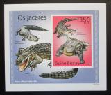 Poštovní známka Guinea-Bissau 2010 Aligátor severoamerický DELUXE Mi# 5001 Block