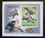 Poštovní známka Guinea-Bissau 2010 Aligátor severoamerický DELUXE Mi# 5004 Block