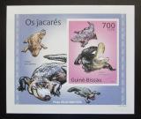 Poštovní známka Guinea-Bissau 2010 Aligátor severoamerický DELUXE Mi# 5005 Block
