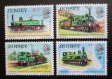 Poštovní známky Jersey, Velká Británie 1973 Železnice, 100. výročí Mi# 85-88