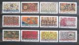 Poštovní známky Francie 2011 Vzory látek Mi# 5027-38 Kat 14€
